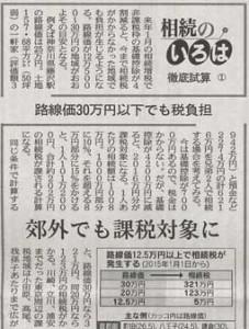 2014年10月1日(水)の日本経済新聞 朝刊5面(アイキャッチ用)