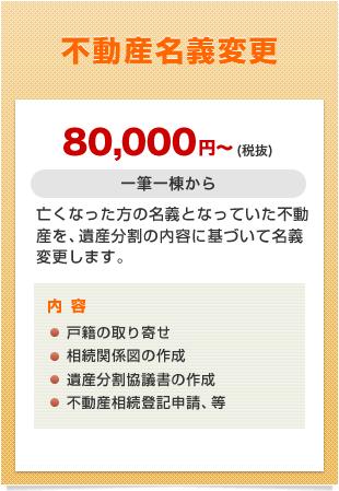 不動産名義変更 80,000円~(税抜)